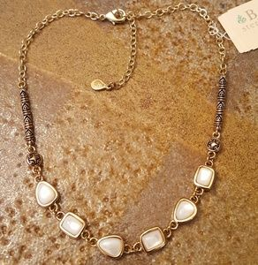 """BARSE """"Romanov""""Bronze Mother-of-Pearl Necklace-NWT"""
